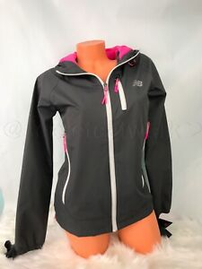 New Balance Women's Windbreaker Black Running Jacket Lightweight Size S