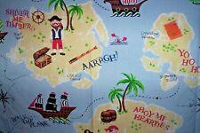 "Laura Ashley Treasure island pirates curtains 54""d x 51""w blackout"