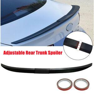 For Car Sedan Universal Rear Spoiler Lip Trunk Wing Painted Black Adjustable