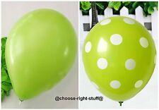 100 Plain & Polka Dot Mix Balloons For Anniversary Easter Celebrations Party