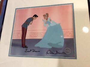 Disney, Cinderella-limited edition signed cel/Frank Thomas-Ollie Johnston