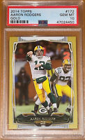 💎POP 1 of 2!🔥Aaron Rodgers 2014 Topps GOLD #172 SP /2014 PSA 10 BGS  MVP!