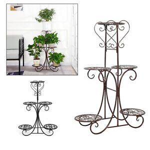 5 Tier Plant Stand Flower Pot Shelf Rack Holder Garden Christmas Home Décor