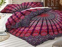Indian Duvet Doona Cover Mandala Hippie Bohemian Queen Quilt Comforter Cover Set