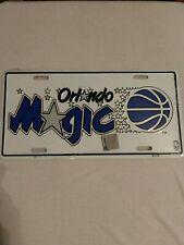 ORLANDO MAGIC Metal License Plate NEW in Plastic Original logo in White MINT!!!