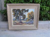 """Orig Oil Painting Desertscape """"Scene along the Mojave Dorothy Brandt CA LISTED"""