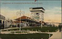 Portland OR Council Crest Dreamland Amusement Park c1910 Postcard