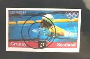 🟪    GB - GRUNAY SCOTLAND - LOCAL IMPERFERATED .-  HI-DENOM £1 - 1984 OLYMPICS