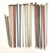 18 Pair Aluminum Knitting Needles Single point Sizes 1 to 15