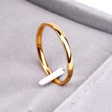 Silver/Gold/Black Titanium Steel Anti-allergy Smooth Simple Wedding Couples Ring