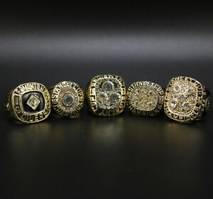Set of 5 Edmonton Oilers Stanley Cup Championship Ring Oilers Ring with Box