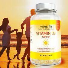 Vitamine D3 10000 IU  365 Gélules  Articulations Os Et Dents Santé 1 an