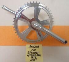"Schwinn 'Mag-style' Sprocket w/Crank Arm,  Genuine, 1976 26"" Bike (Nice!)"