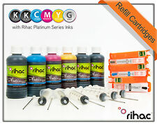 Rihac Refillable Ink Cartridges for Canon MG7560 IP8760 PGI-650 CLI-651 ARC CISS
