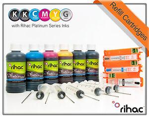 Rihac Refillable Ink Cartridges for Canon MG7560 IP8760 PGI-650 CLI-651 ARC CISS