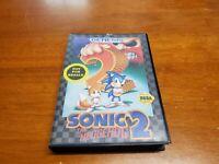 Sonic the Hedgehog 2 (Sega Genesis, 1992) Complete CIB - TESTED Rare Fast Ship