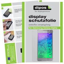 6x dipos Samsung Galaxy Alpha matte Displayschutzfolie Antireflex Testsieger