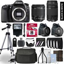 Canon EOS 80D SLR Camera 4 Lens Kit 18-55 + 75-300mm + 64GB Accessory Bundle