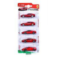 "Bburago Ferrari Race And Play Evolution 5 Pack 1:64 (2.75"" / 6.5 cm)"