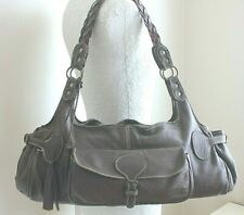 PAUL & JOE SISTER LEATHER HOBO BAG Large Roomy Brown Shoulder Handbag Tote