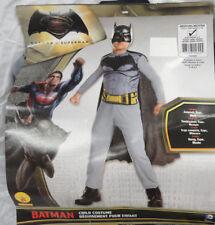 RUBIES, BATMAN VS SUPERMAN HALLOWEEN COSTUME W/ CAPE & MASK, SIZE MED 8-10, NEW