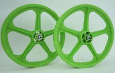 "Skyway BMX 20"" Tuff Wheels GREEN retro NEW wheelset sealed bearings 3/8"" axles"