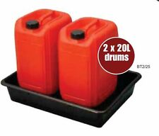 2x 20L/28L Oil Chemical Bunded Drip Sump Spill Pallet Tray Removable base grid