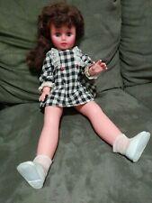 Old Vintage 1967 gorgeous face tall long leg Uneeda doll sleepy open shut eyes