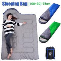 Envelope Sleeping Bag Outdoor Adult Winter Cotton Camping Warm Travel Waterproof