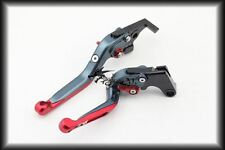 Adjustable Extendable Levers For Suzuki 1999-2007 Hayabusa GSX1300R Grey Red