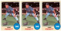 (3) 1993 Sports Cards #44 Kirby Puckett Baseball Card Lot Minnesota Twins