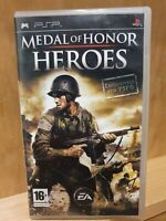 Medal of Honor Heroes Sony PSP Playstation Portable Video Game Manual PAL
