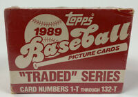 1989 Topps Traded Series Baseball Factory Set Factory Sealed 132 Card Griffey Jr