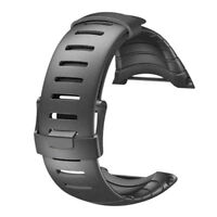 Black Soft Rubber Watch Replacement Band Strap For SUUNTO CORE SS014993000