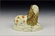 18th / 19th Century Prattware Figural Lion Figurine
