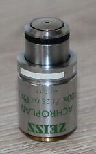 Zeiss MICROSCOPIO Microscope obiettivamente achroplan 100x/1,25 OIL ph3 (44 00 81 [01])