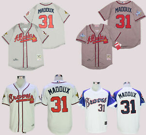 Atlanta Braves #31 Greg Maddux Cool Base Men's Stitched Jersey