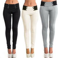 Fashion Womens High Waist Skinny Stretch Pencil Pants Long Slim Trousers Legging