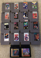 Lot Of 18 Nintendo Nes Games Pinball Blaster Glove Ball Star Voyager + Tested