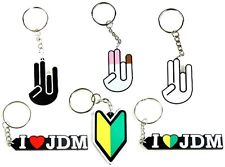 ZERG INDUSTRIES KEYCHAIN COLLECTION - 6 TOTAL, SHOCKER, I LOVE JDM, NEW DRIVER