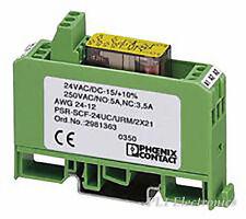 PHOENIX CONTACT   PSR-SCF-24UC/URM /2X21   SAFETY RELAY, 2 PDT CONTACTS 24VDC