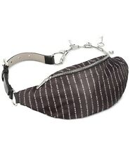 Steve Madden Charm Logo Belt Bag KEY COIN printed BLACK/NICKEL SM36771 102618