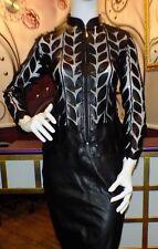 Luxus Designer Damen schicker Lederblazer/Bluse/Jacket Gr.34,36,38,40,42,44 NEU