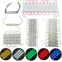 10-200pcs 5050 SMD 3/5/6 LED RGB Waterproof Module Light Fairy Strip Lamp DC 12V