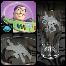 Personalised Disney Toy Story Buzz Lightyear Pint Beer Glass Hand Engraved Gift