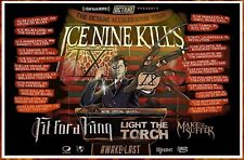 ICE NINE KILLS | FIT FOR A KING | LIGHT THE TORCH 2019 Tour Ltd Ed RARE Poster