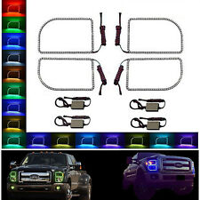 11-16 Ford F-250 Truck Multi-Color Changing LED RGB Halo Headlight Rings Set