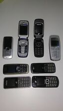 Mixed lot~8 Cell phones .Untested...being sold AS-IS   (2) Flip, (6) Bar Phones