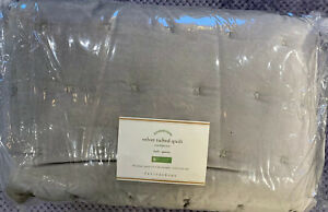 Pottery Barn Dark Smoke Velvet Tufted Quilt, Full/Queen, Free Shipping!
