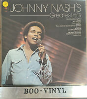 JOHNNY NASH Greatest Hits Lp Vinyl Compilation (I Can See Clearly Now, Cupid) EX